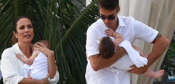 Ivete Sangalo e Daniel Cady batizam filhas, Marina e Helena, em Salvador
