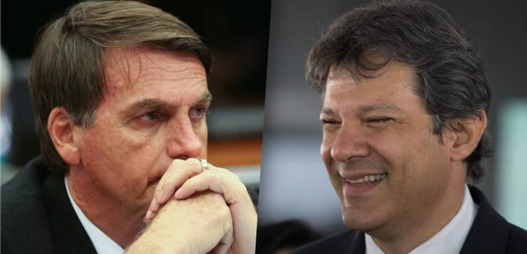 DataPoder360: Bolsonaro tem 33% dos votos válidos e deve disputar 2º turno com Haddad