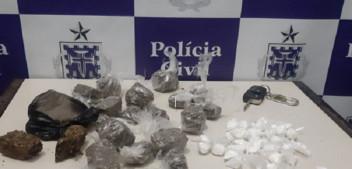 Coité: Após perseguição, Polícia Civil apreende drogas e prende dupla